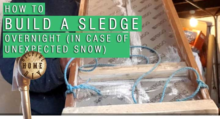 picture of an amateur sledge build, with the title saying how to build a sledge overnight (in case of unexpected snow)
