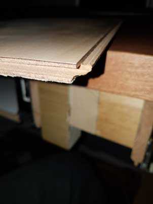 side picture showing sledges base board with its tongue and groove edges