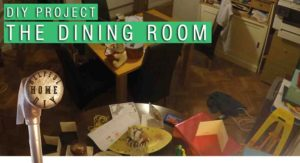 "image with a faded dining room with text overlaying the picture. the text reads: ""DIY project - the dining room""."
