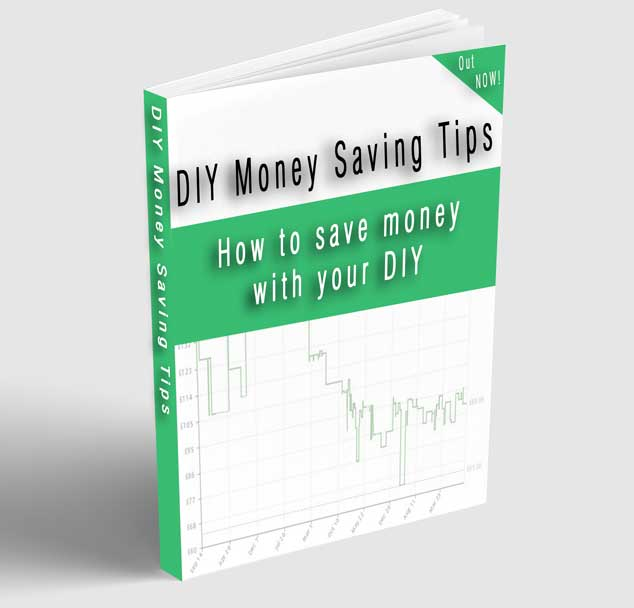 "book reading ""DIY money saving tips"" on the front and spine. also reads ""how to save money with your diy"" on the front"