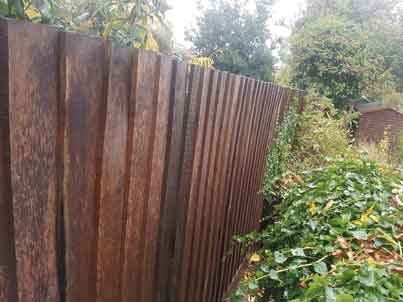 new fence along a boundary