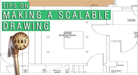 scalable drawing with title reading - tips on making a scalable drawing